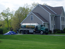 Septic Truck at Septic Installation